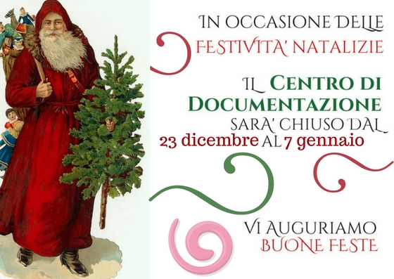 Centro Documentazione – orario straordinario periodo natalizio