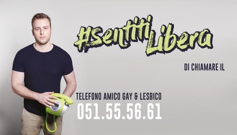 """""""#SENTITILIBERA E #SENTITILIBERO DI CHIAMARE"""": IMMANUEL CASTO  TESTIMONIAL  DEL TELEFONO AMICO GAY E LESBICO DEL CASSERO DI BOLOGNA"""
