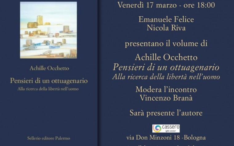 """Presentazione libro """"Pensieri di un ottuagenario"""" di Achille Occhetto"""