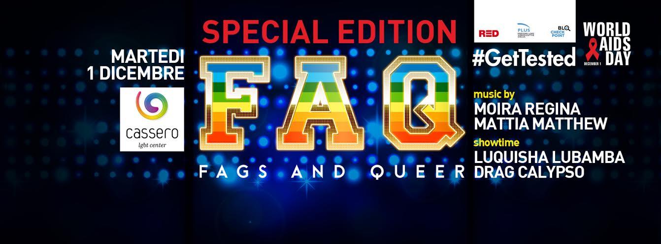 FAQ against AIDS // special edition 1 dicembre