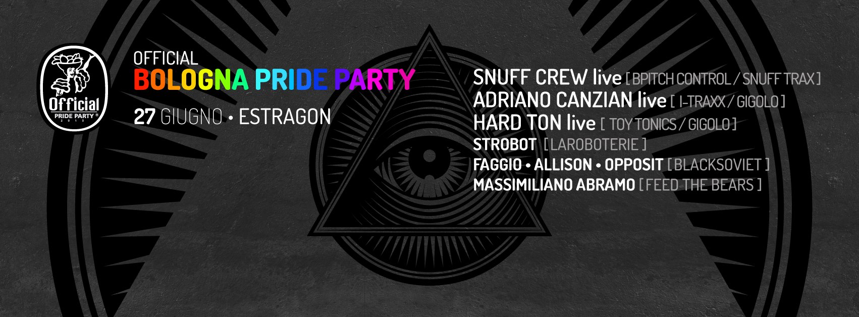 Bologna Pride Official Party – line up techno area