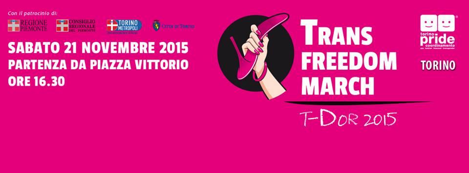 Trans Freedom March, Torino 21 novembre'15